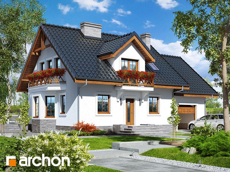 gotowy projekt Dom w rododendronach 19 (P) widok 1