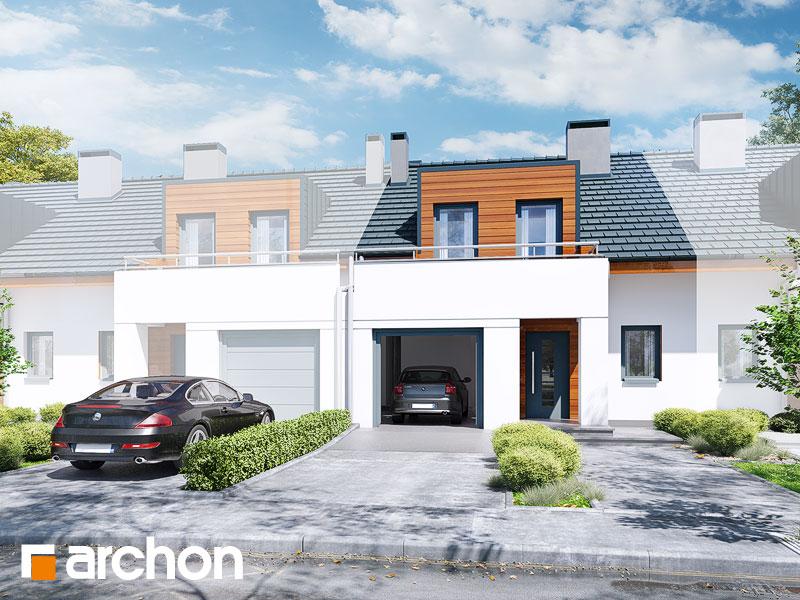 gotowy projekt Dom w klematisach 8 (S) widok 1