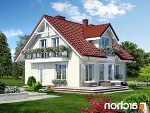 projekt Dom w rododendronach 3 lustrzane odbicie 1