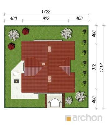 projekt Dom w rododendronach 3 sytuacja