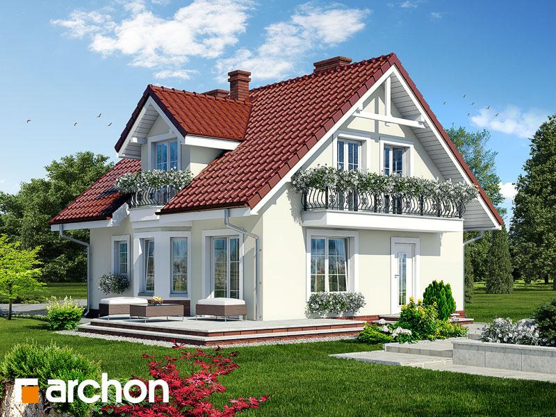 gotowy projekt Dom w rododendronach 3 widok 1