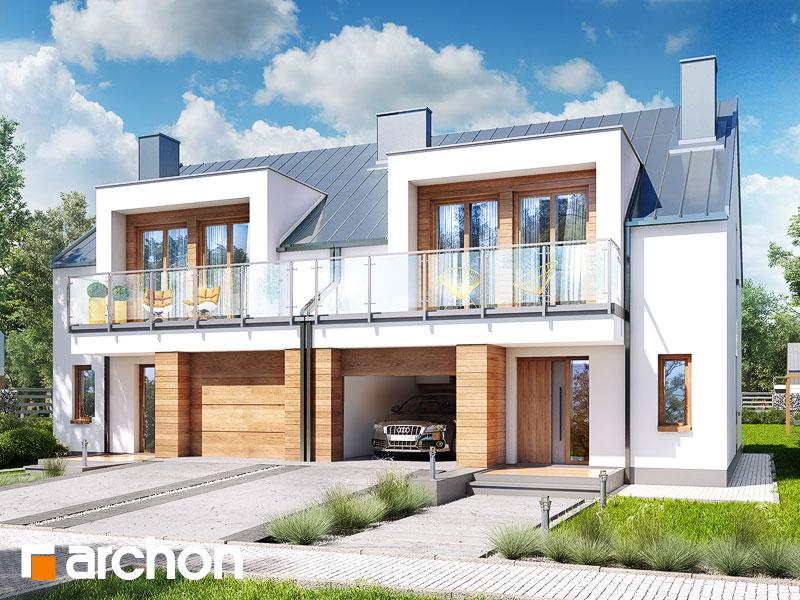 projekt Dom w klematisach 22 (R2) widok 1