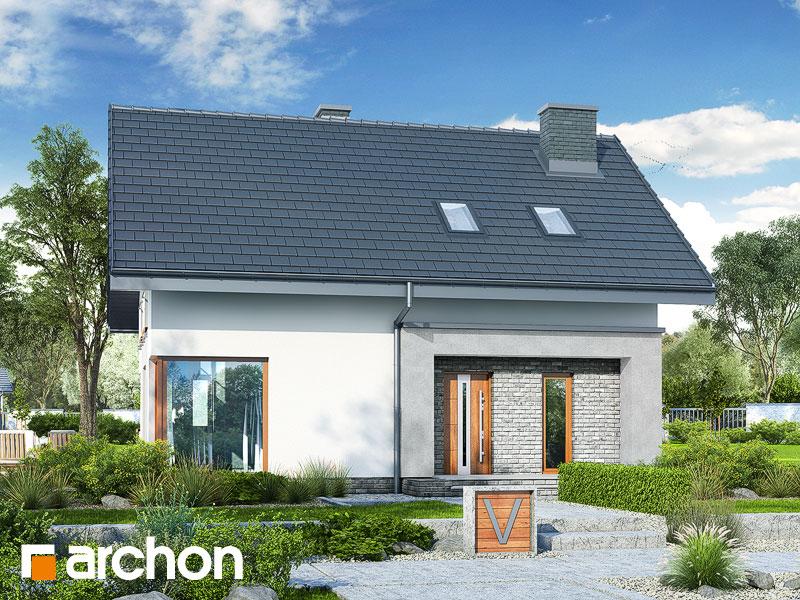 gotowy projekt Dom w kroplikach (W) widok 1