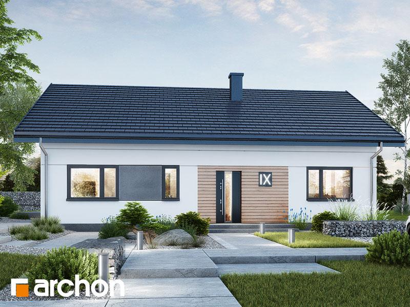 gotowy projekt Dom w kostrzewach 9 (E) widok 1