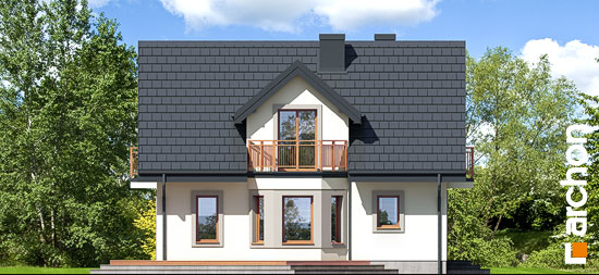 Elewacja boczna projekt dom w rododendronach 5 w ver 2  265