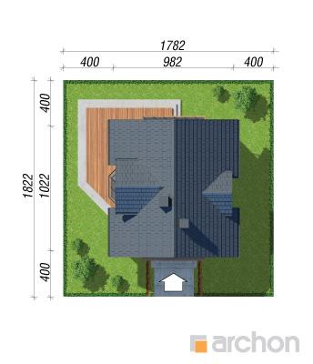 projekt Dom w rododendronach 5 (W) sytuacja