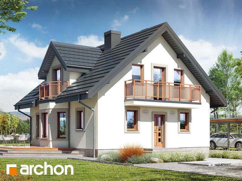 gotowy projekt Dom w rododendronach 5 (W) widok 1