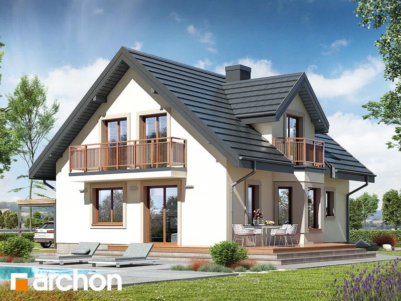 gotowy projekt Dom w rododendronach 5 (W) widok 2
