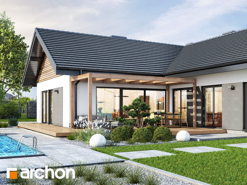 gotowy projekt Dom w widliczkach 2 (G2) widok 1