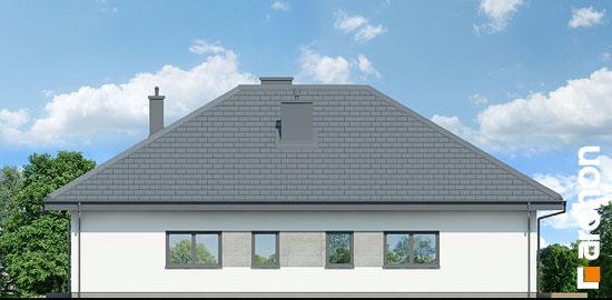 Elewacja boczna projekt dom w cieszyniankach  265