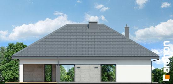 Elewacja boczna projekt dom w cieszyniankach  266