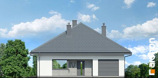 Elewacja frontowa projekt dom w cieszyniankach  264