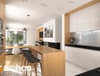 projekt Dom w cieszyniankach Wizualizacja kuchni 1 widok 2
