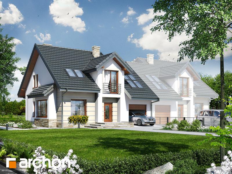 gotowy projekt Dom w rabarbarze (B) widok 1