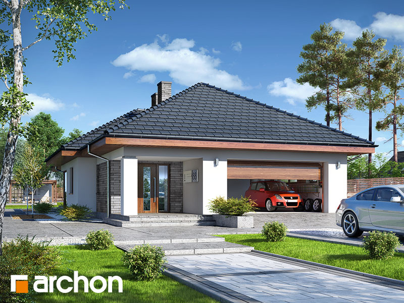 projekt Dom w modrzewnicy (G2P) widok 1