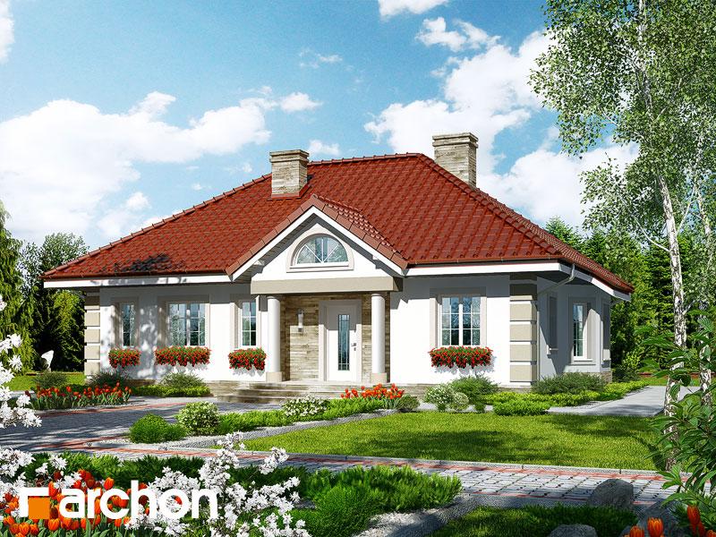 gotowy projekt Dom w oliwkach widok 1