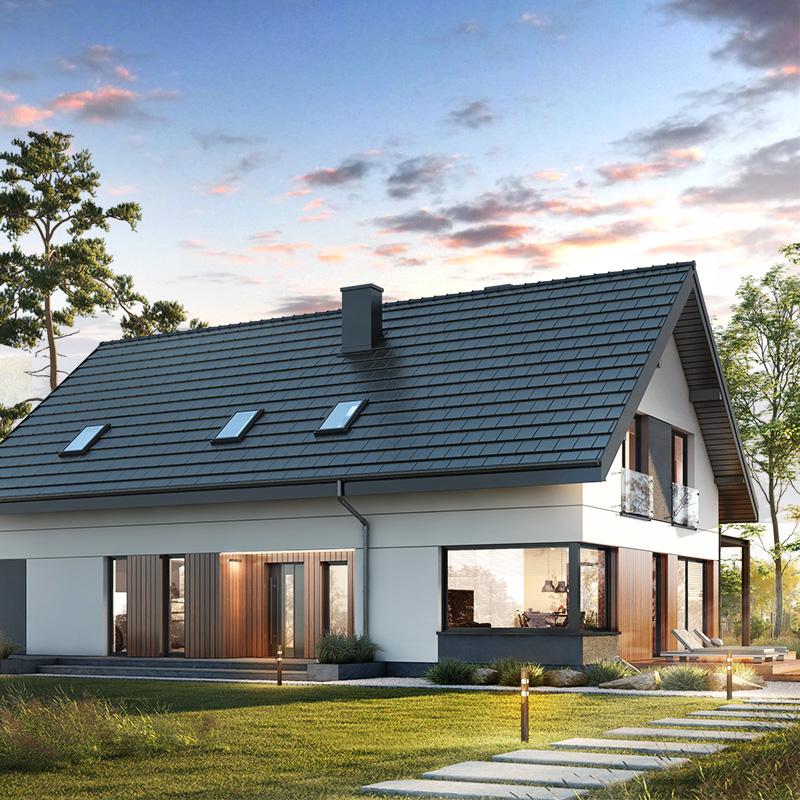gotowy projekt Dom w idaredach 11 (G2A) widok 2