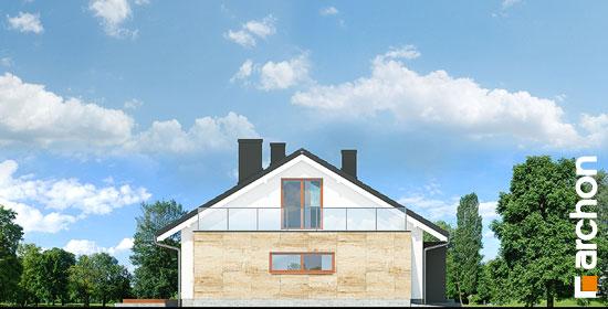 Elewacja boczna projekt dom pod jarzabem 17 n  265