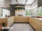 projekt Dom pod jarząbem 17 (N) Wizualizacja kuchni 1 widok 1