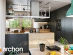 projekt Dom pod jarząbem 17 (N) Wizualizacja kuchni 1 widok 3