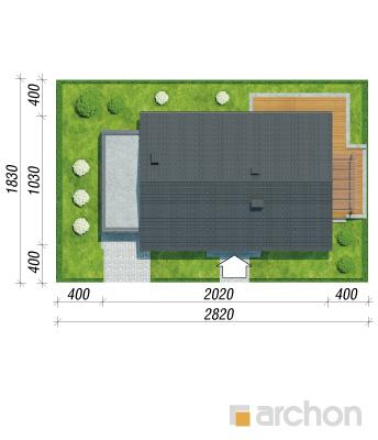projekt Dom pod jarząbem 17 (N) sytuacja