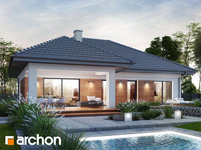 4c3f2d606005a4 zobacz lustrzane odbicie gotowy projekt Dom w żonkilach (G2) widok 1