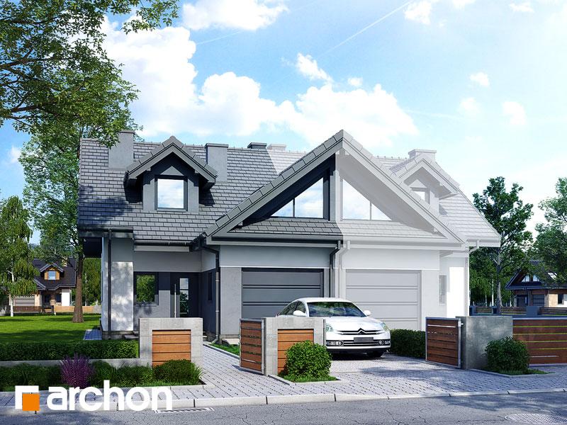 gotowy projekt Dom w klematisach 5 (B) widok 1