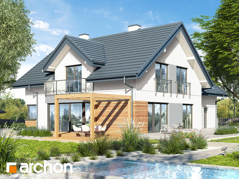 gotowy projekt Dom w hortensjach 2 (G2) widok 2