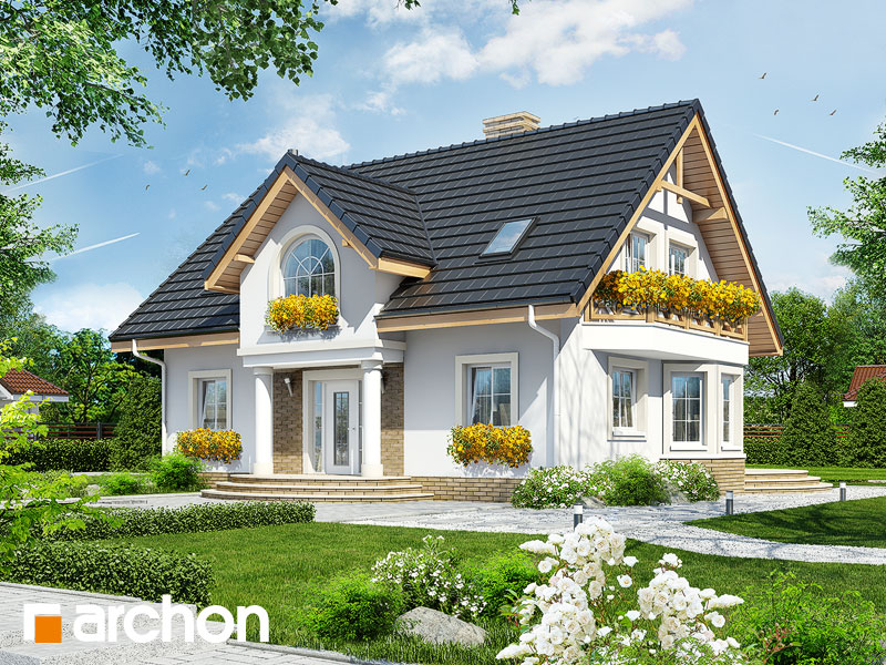 gotowy projekt Dom w mirabelkach widok 1