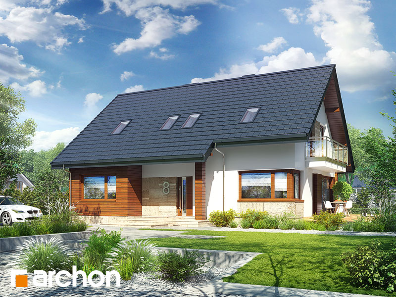 gotowy projekt Dom w idaredach 3 (P) widok 1