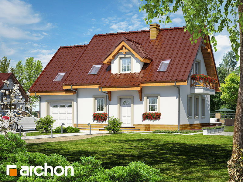 projekt Dom w poziomkach 4 (T) widok 1