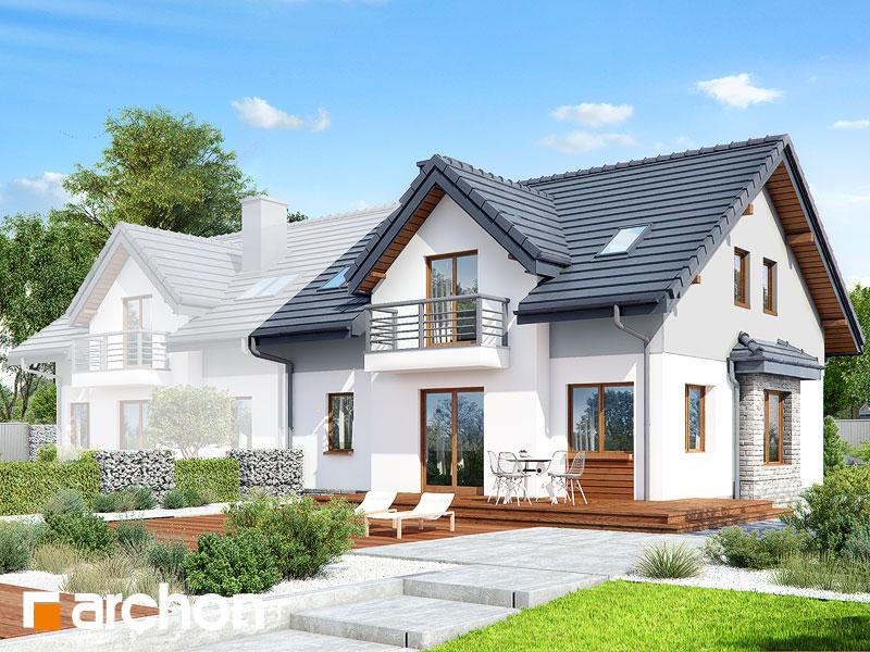 gotowy projekt Dom w cyklamenach widok 1