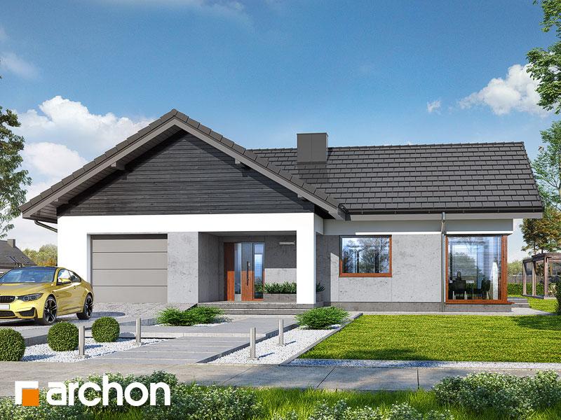 gotowy projekt Dom w widliczkach widok 1