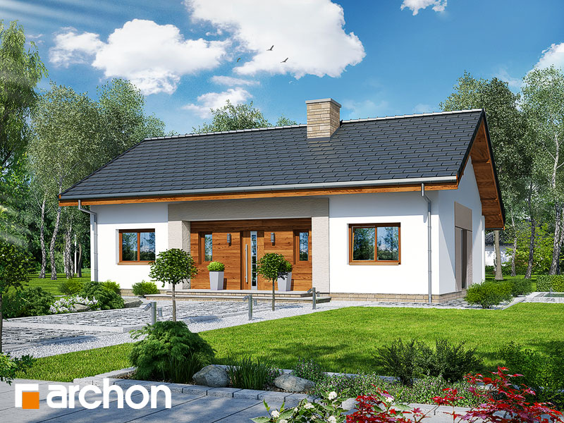 gotowy projekt Dom w kostrzewach widok 1