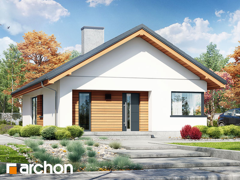 gotowy projekt Dom pod pomarańczą (M) widok 2