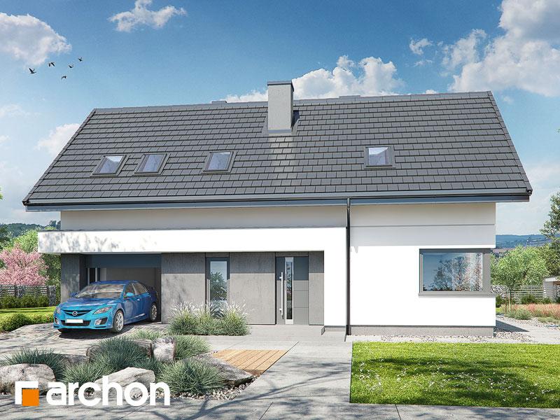 gotowy projekt Dom w zielistkach 10 widok 1