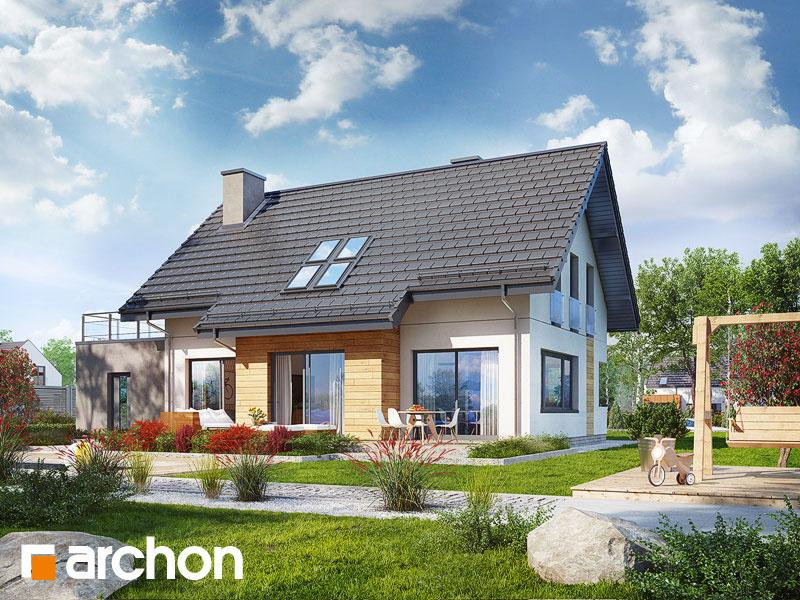 gotowy projekt Dom w hostach widok 1