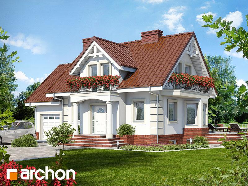 gotowy projekt Dom w kosówce (P) widok 1