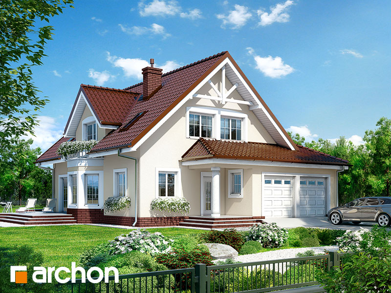 gotowy projekt Dom w świetliku (G2) widok 1