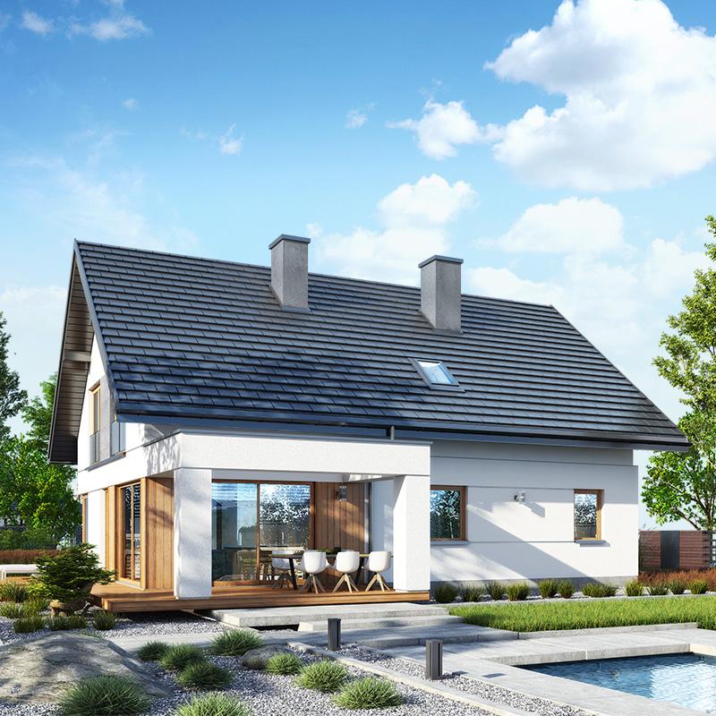 gotowy projekt Dom w idaredach 11 widok 1