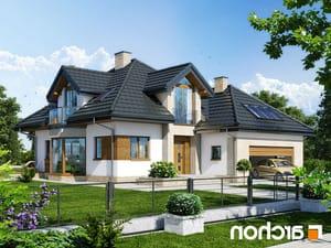 projekt Dom pod wiązowcem (N) lustrzane odbicie 1