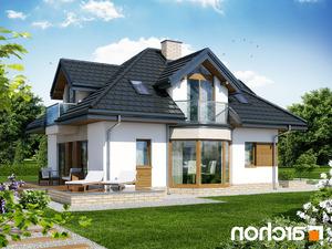 projekt Dom pod wiązowcem (N) lustrzane odbicie 2