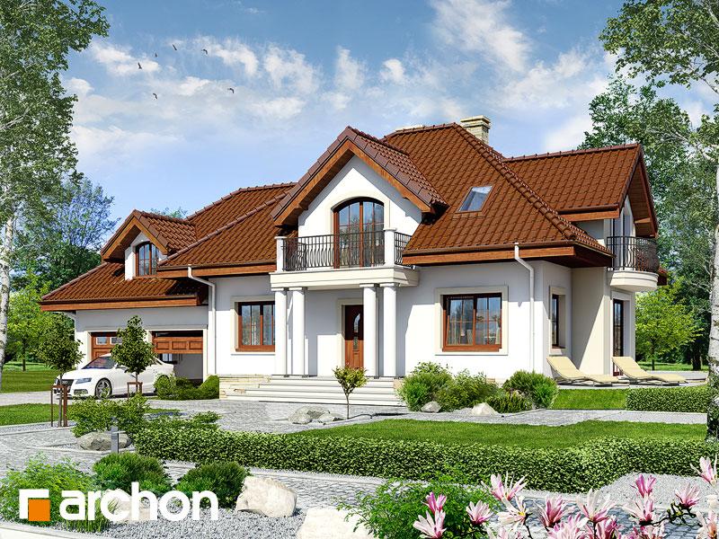 gotowy projekt Dom w werbenach 6 (G2) widok 1
