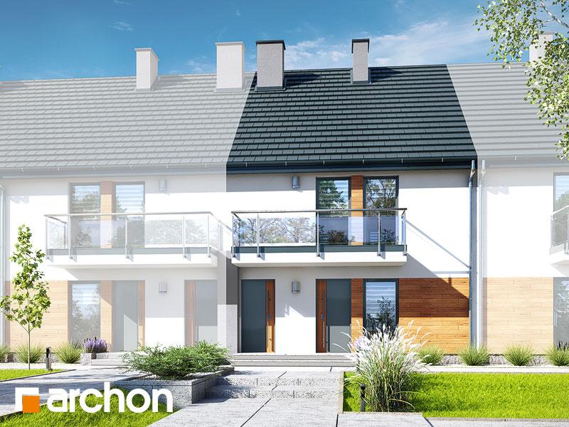 gotowy projekt Dom w bratkach (R2SA) widok 1