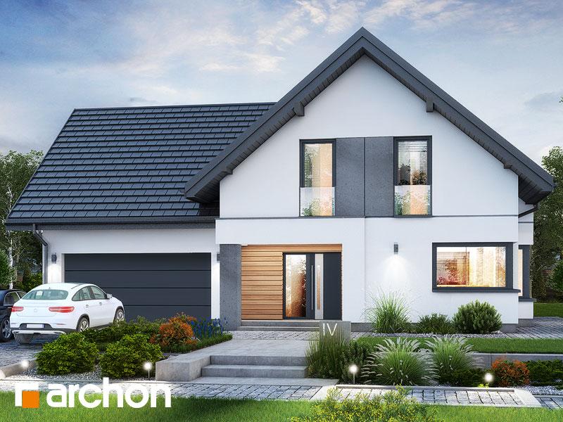gotowy projekt Dom w rabatkach (G2) widok 1