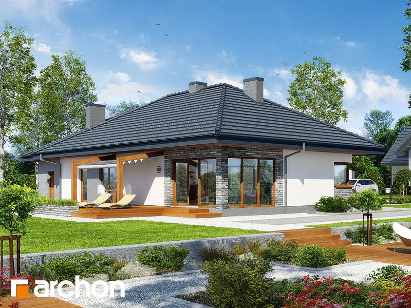 projekt Dom w santolinach widok 1