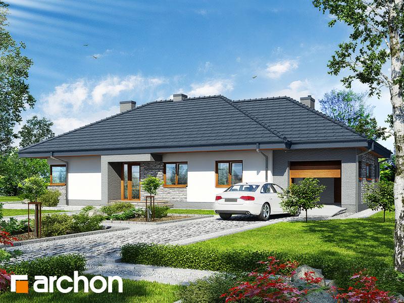 gotowy projekt Dom w santolinach widok 1