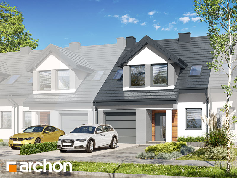 gotowy projekt Dom w klematisach 7 (SA) widok 1