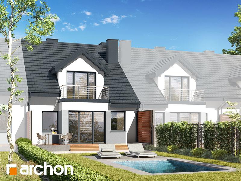 gotowy projekt Dom w klematisach 7 (SA) widok 2