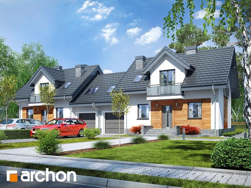 gotowy projekt Dom w perłówce (R2N) widok 1